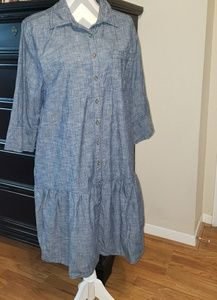 GAP drop waist chambray dress